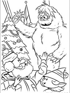 red nosed reindeer coloring page pict
