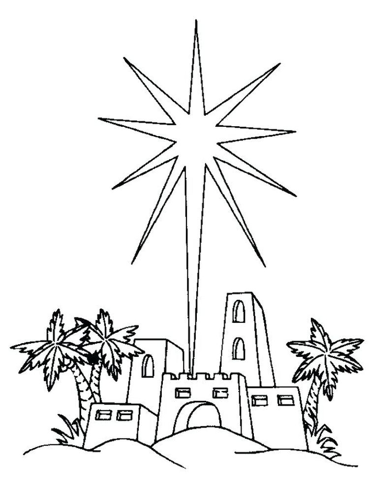 rocket and stars coloring page