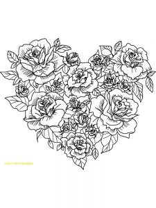 rose coloring pages download