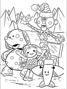 rudolph the rednosed reindeer colouring pages