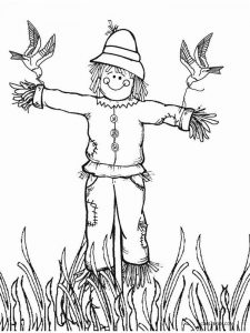 scarecrow coloring page free download