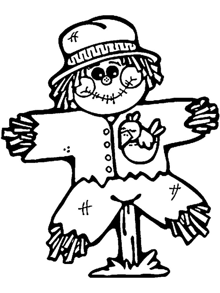 scarecrow coloring page image