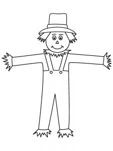 scarecrow coloring page pictures
