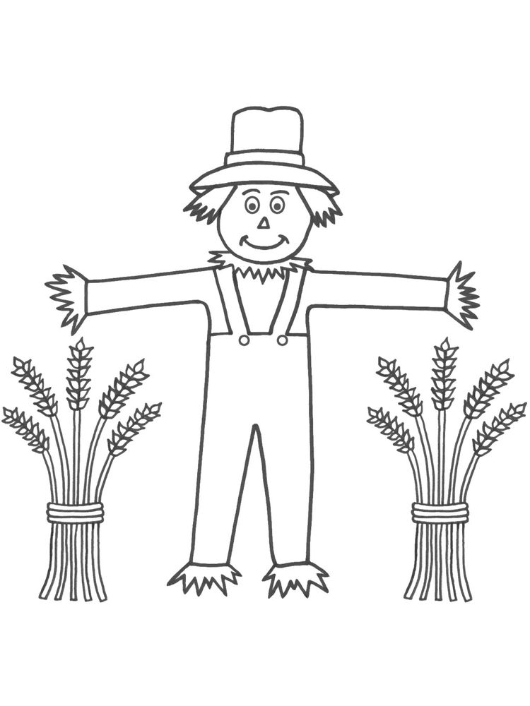 scarecrow coloring pages download