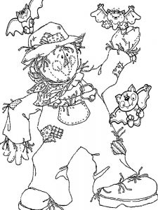 scarecrow coloring pages free image