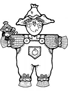 scarecrow coloring pages free pdf