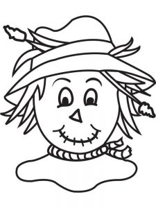 scarecrow coloring pages image