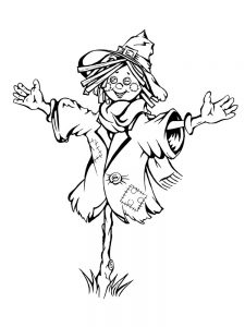scarecrow coloring pages images