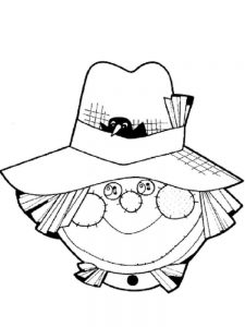 scarecrow coloring pages online