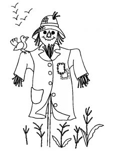 scarecrow coloring pages pdf