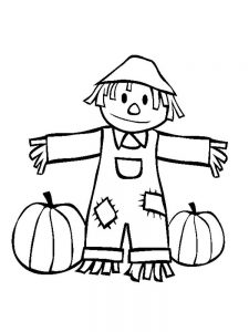 scarecrow coloring pages picture