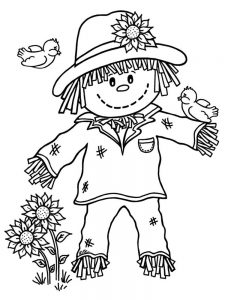 scarecrow coloring pages print