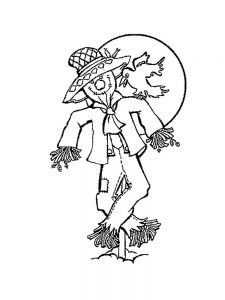 scarecrow coloring pages print out