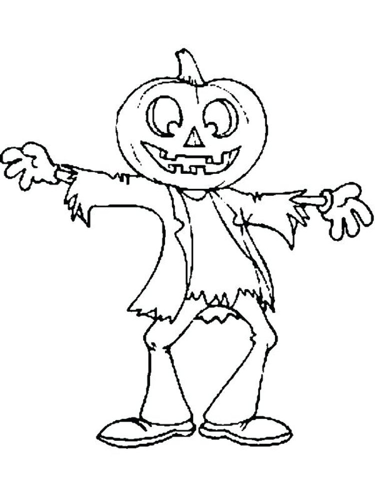 scarecrow coloring pages to print