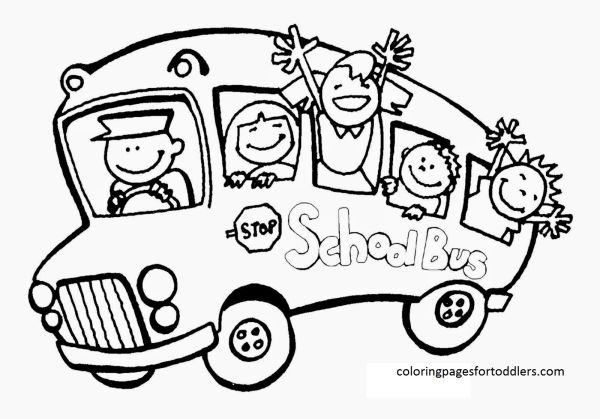school bus goes to school coloring pages