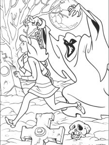 scooby doo and the gang coloring pages