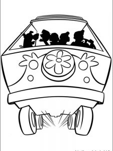 scooby doo birthday coloring pages
