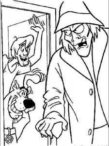 scooby doo coloring pages halloween