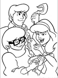 scooby doo coloring pages to print for free
