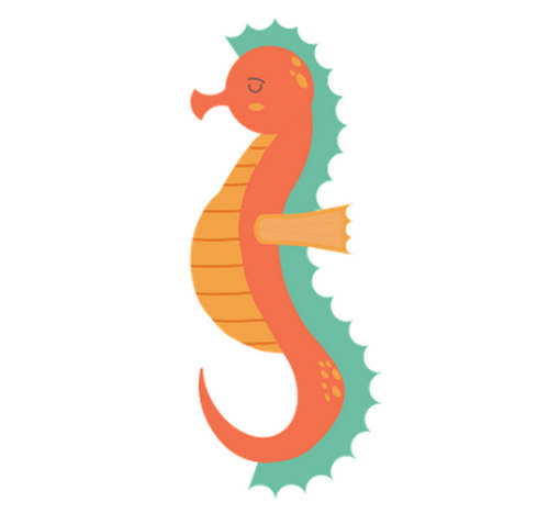 seahorse coloring pages for kids collection