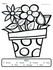 simple addition coloring pages