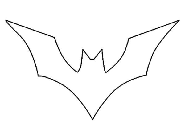 simple batman logo coloring pages