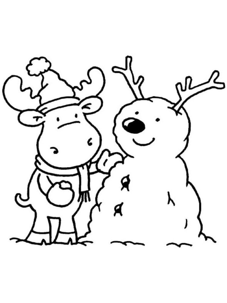simple winter coloring pages