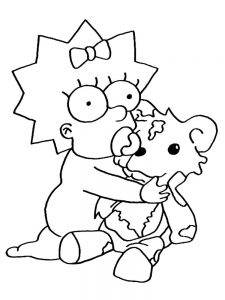 simpsons christmas coloring pages free