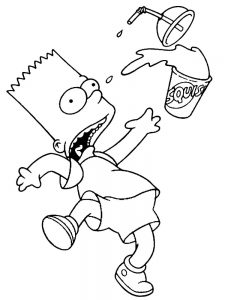 simpsons coloring pages free