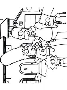 simpsons coloring pages pdf