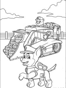 skye and chase paw patrol coloring page