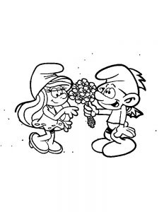 smurf coloring pages free images