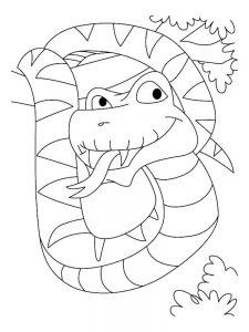 snake coloring page free