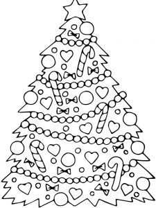 snoopy christmas tree coloring pages