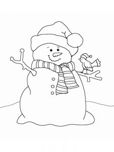 snowman coloring page easy
