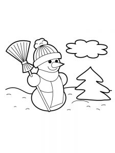 snowman coloring pages cool