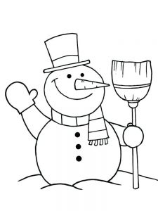 snowman coloring pages cool pdf