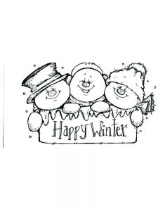 snowman coloring pages cute
