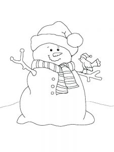 snowman coloring pages free online