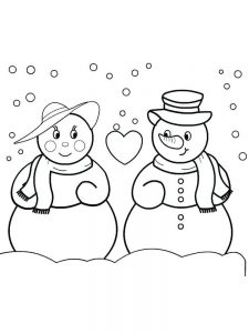 snowman coloring pages image