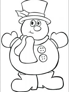 snowman coloring pages image free