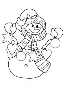 snowman coloring pages pdf