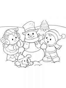 snowman coloring pages pdf free