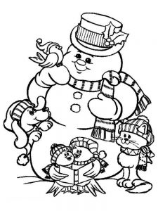 snowman coloring pages picture