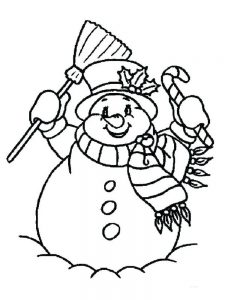 snowman cool pdf coloring pages