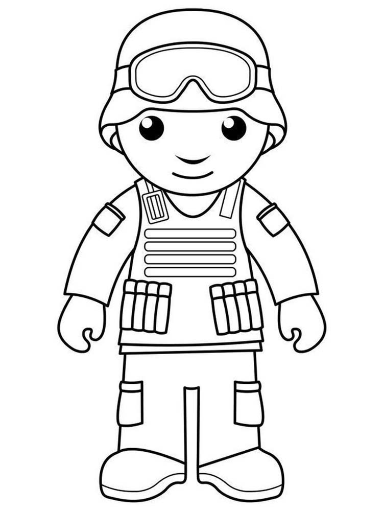 soldier coloring page free