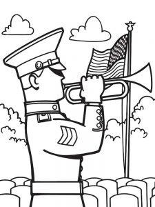 soldier coloring page image