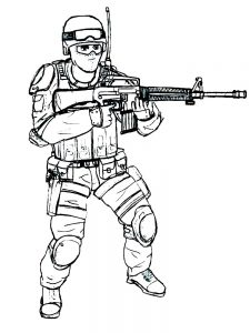 soldier coloring pages printable free