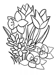 spring coloring pages flowers pdf