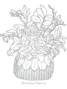 spring flowers coloring page pdf
